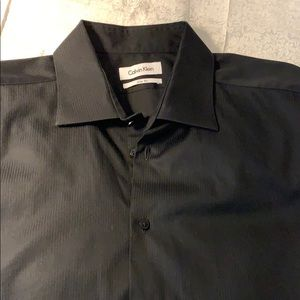 ♟Calvin Klein black dress shirt 17/34/35 slim fit♟